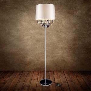 Lampe Mit Kristallen : moderne stehleuchte stehlampe lampe wohnzimmer leuchte standleuchte ebay ~ Orissabook.com Haus und Dekorationen