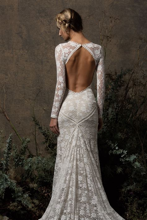 Valentina Backless Lace Wedding Dress Dreamers And Lovers