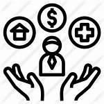 Icon Welfare Icons Benefit Employee Fringe Bienestar