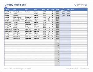 grocery price book template With pricing schedule template