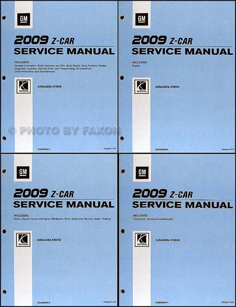 service manual automotive repair manual 2009 saturn outlook navigation system 100 2008 2009 saturn aura and aura hybrid repair shop manual original 4 volume set