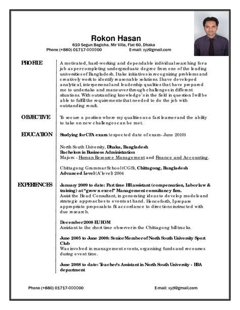What Does A Professional Resume Look Like by Resume Template Objective For General Exles