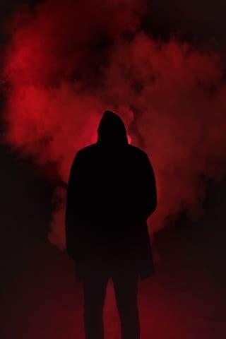 red smoke man  mobile wallpaper