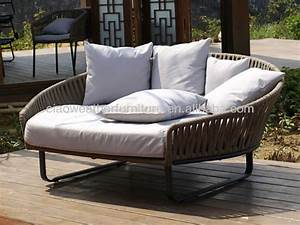 Outdoor sofa bed brayden studio greening outdoor daybed for Wicker futon sofa bed