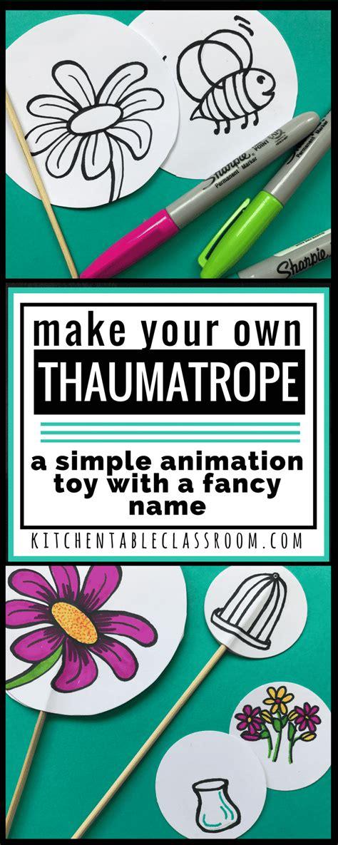 making  thaumatrope  simple animation toy   fancy