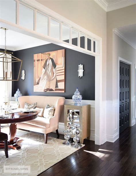 Adding Interest To Neutral Decor by Neutral Dining Room Updates Dining Room Decor