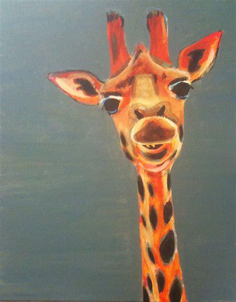 giraffe acrylic
