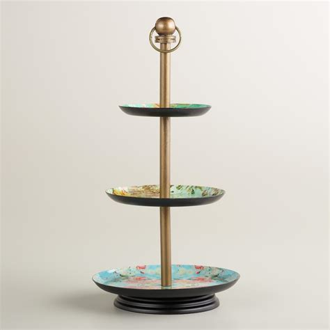 Victorian Enameled 3tier Jewelry Stand  World Market