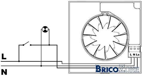 aerateur salle de bain hygrostat raccordement ventilateur de sdb