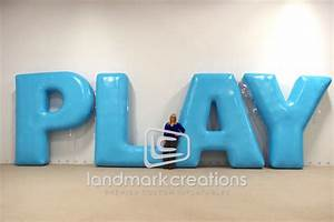 Play inflatable letters for nickelodeon39s worldwide day of for Inflatable letters