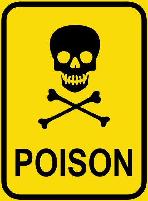 pictures of poison poison sign clipart best