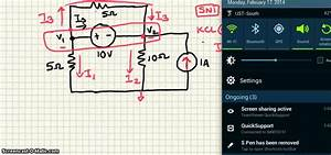 Example Node Voltage With Supernode