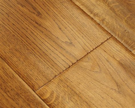 golden oak scraped lacquered engineered wood flooring