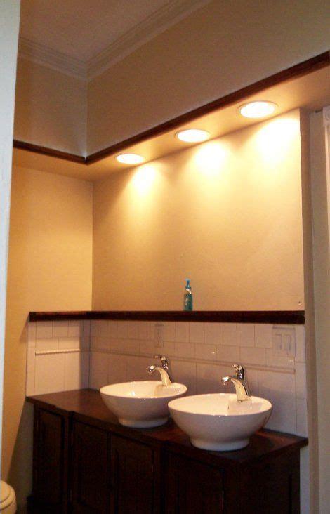 Kitchen And Bathroom Ceiling Lights by Gorgeous Bathroom Sink Soffit Lighting Modern Design Ideas
