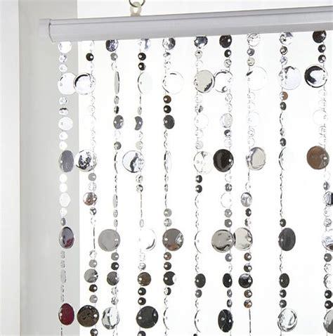 rideau de porte perles plates argent rideau de porte eminza