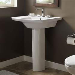captivating pedestal sink bathroom design ideas with american standard tropic grande pedestal - Pedestal Sink Bathroom Design Ideas