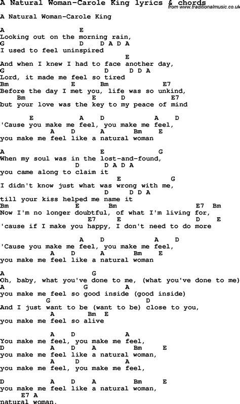Carole King Songs Lyrics Chords
