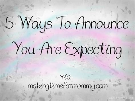 Fun Ways To Announce That You're Expecting