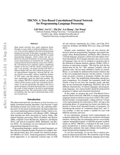 (PDF) Convolutional Neural Network over Tree Structures