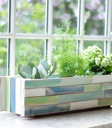 wood shim window box planter centsational