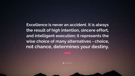 aristotle quote excellence    accident