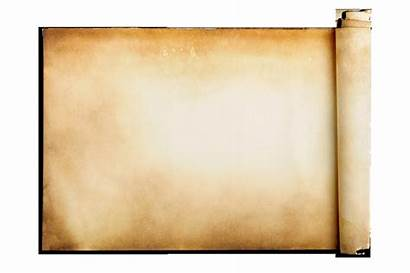 Scroll Transparent Clipart Background Paper Parchment Roll