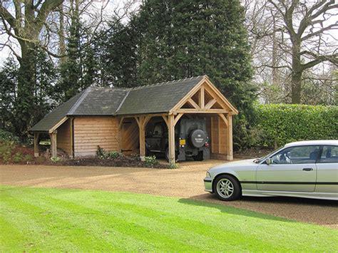 shaped garage blackdown shires oak buildings