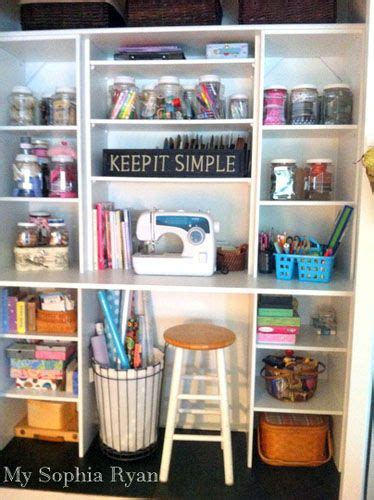 Closet Organization Ideas For Crafts by A Standard Closet Transformed Into A Craft Work Station By