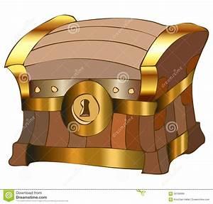 Ejemplo Del Vector Del Cofre Del Tesoro De La Historieta Ilustración del Vector Imagen: 59706999