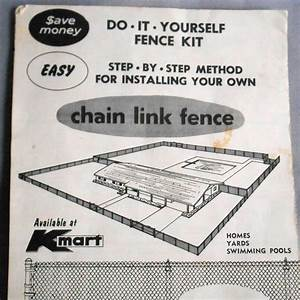 Vintage Kmart Instructions Guide Manual Diy Chain Link