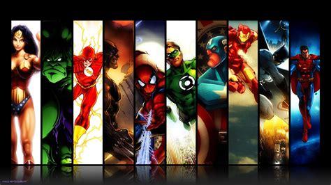 dc comics batman iron man spider man green lantern