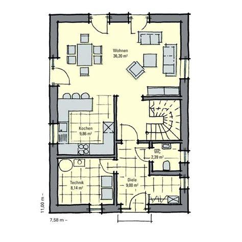 Kleines Haus Grundriss by Grundriss Kleines Haus Bungalow Schmales