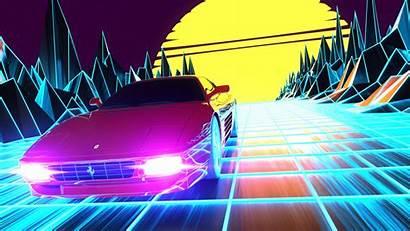 Outrun 4k Ferrari Created Soon Coming Blender