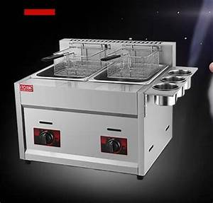 2018 New Design Stainless Steel Gas Deep Fryer  Double