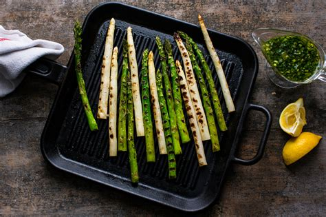 grilled asparagus  lemon dressing recipe nyt cooking