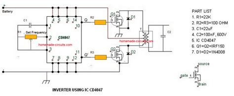 simple inverter circuits   build  home