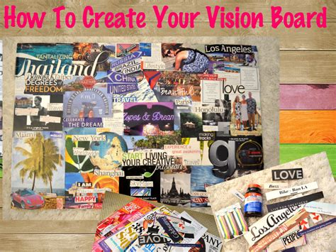 vision board vision board building guide the single diaries