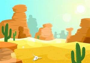 Desert clipart desert background - Pencil and in color ...