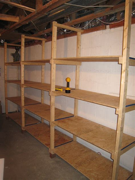 Shelving Projects by How To Build Inexpensive Basement Storage Shelves Diy
