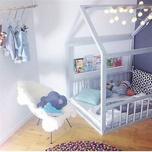 Lit Au Sol : lit cabane enfant cocoeko ~ Teatrodelosmanantiales.com Idées de Décoration