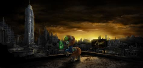 Post Apocalyptic Background Littlepip On The Post Apocalyptic Background By Empalu On