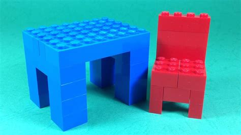 build lego table  chair furniture  lego
