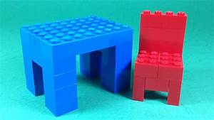 How To Build Lego Table And Chair  Furniture
