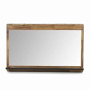 miroir de salle de bains en acacia et metal 90cm kota With miroir salle de bain 140 x 90