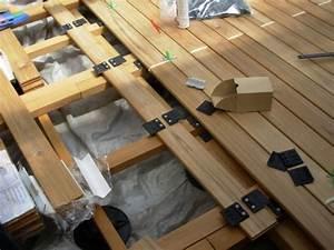 Pose Lame De Terrasse Composite Sans Lambourde : terrasse en bois pose invisible par clips ~ Premium-room.com Idées de Décoration