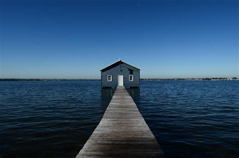 Boatshed In Perth by Crawley Edge Boatshed And So
