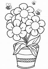 Coloring Pages Printable Flower Pdf Sheets Adults Kid Splendi Craft Children sketch template