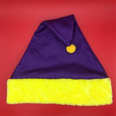 yellow csutomized logo felt christmas santa hats buy