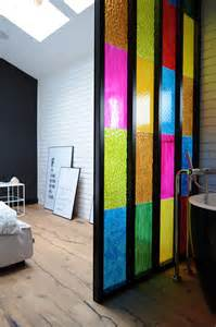bathroom partition ideas bedroom bathroom partition in colored plastic panels diy idea