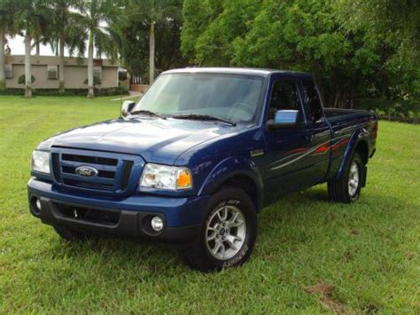 2009 ford ranger xlt sell used blue 2009 ford ranger sport 4x4 supercab xlt package 4 door in miami florida united